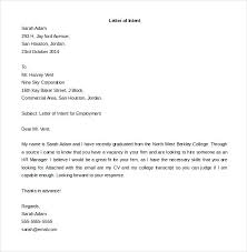 Letter Of Intent Job Application Template Caseyroberts Co