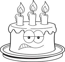 Top 60 Birthday Cake Outline Cartoon Clip Art Vector Graphics And