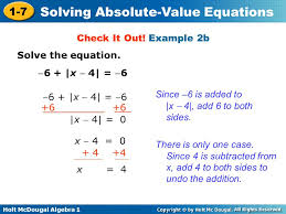 1 4 practice solving absolute value equations tessshlo