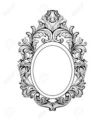 Image Outline Rich Baroque Mirror Frame Vector French Luxury Rich Intricate Ornaments Victorian Royal Style Decor 123rfcom Rich Baroque Mirror Frame Vector French Luxury Rich Intricate