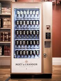 First Vending Machine Dispensed Unique Champagne World's First Champagne Vending Machine