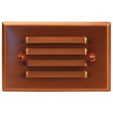 Malibu Led Deck Light Half Brick Malibu Low Voltage Led Half Brick Real Copper Deck Light
