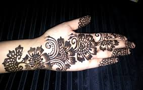 Mehandi Designs For Hands Arabic Style 2014