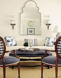 blue and white ottoman coffee table