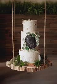 Birch Wood Inspired Wedding Cake Brides