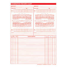 Exam Record Dental Charts 2 Sided White 100 Pk