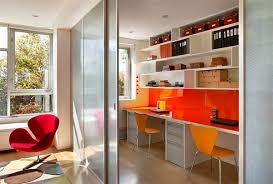 orange paint study room