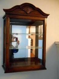 reina brass wall mirror with shelf curio cabinet mount 3 display box glass wooden