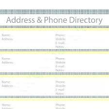 Address Book Printable Template Phone Book Template Excel Phone Book Printable Phone Book