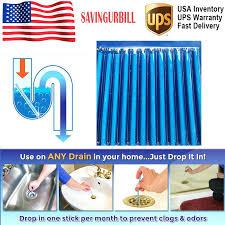 sink sticks pack sticks drain cleaner odor remover kitchen bath tub sink useful tool sink sanitizer sticks