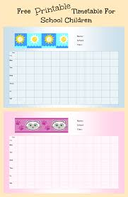printable school timetable for kids parenting times printable timetable for school children