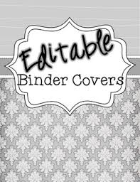 Editable Binder Covers Shades Of Gray