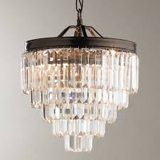 modern faceted glass layered mini chandelier  convertible
