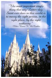 Marriage Quotes Amazing Elder Bruce R McConkie Quote On Marriage The Idea Door