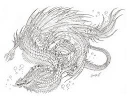 sea serpent drawings. Interesting Sea Sea Serpent Lineart By Sunima  To Sea Serpent Drawings