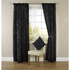 Black Patterned Curtains Cool Decorating