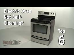 oven not self cleaning