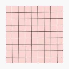 Pastel Pink Grid Background