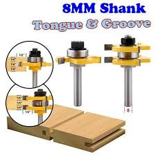 2 pc 8mm shank high quality tongue groove joint assembly router bit set 3 4 stock wood cutting tool chwjw