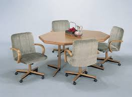 home design impressive dinette sets with casters of rolling dining room chairs centerpieces for table