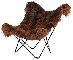sheepskin erfly chair