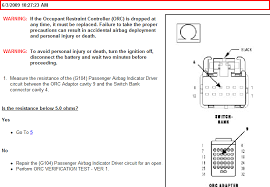 chrysler the pass air bag off lite does not lite graphic