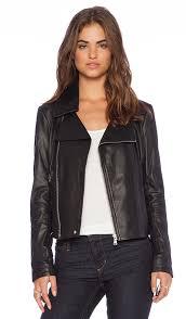 cropped leather moto jacket june