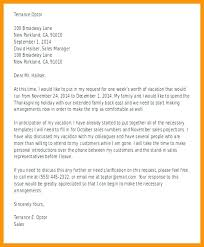 Leave Application Annual Request Letter Template Example