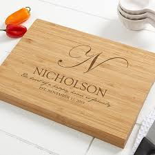 heart of our home personalized bamboo cutting board 10x14