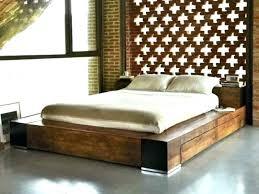 Flat Platform Bed Frame Queen Solid Wood – giftelan