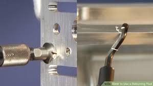 metal deburring tool. image titled use a deburring tool step 8 metal