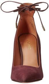 nine west ebba leather dress pump dark brown dark brown women s shoes court nine