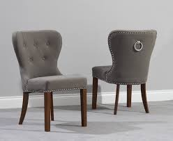 outstanding knightsbridge studded black fabric dark oak leg dining chairs pertaining to grey fabric dining chairs attractive