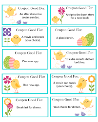 printable easter coupons the shady lane easter egg stuffer family activity coupons