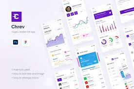 When storing your bitcoins on a paper wallet you can only load funds to the wallet. Chrev Crypto Wallet Ios App Design Ui Template In Ux Ui Kits On Yellow Images Creative Store