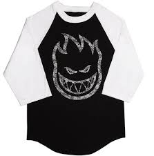 spitfire apparel. spitfire big head paisley 3/4 sleeve t-shirt apparel o