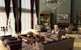... Interior Living Room Ideas Best Layout Design Brown Fabric Sofa Low  Rectangle Glass Coffee Table Antique ...