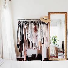 open wardrobe small bedroom idea