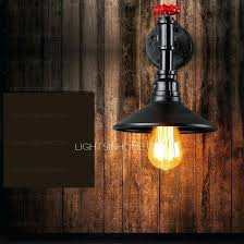 vintage style lighting fixtures. Industrial Style Wall Lamp Vintage Water Pipe Shaped Light Fixtures One Piece Lighting U