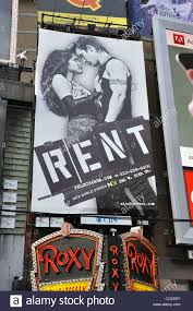 Rent Poster Rent Musical Poster On Broadway New York Usa Stock Photo 42109308