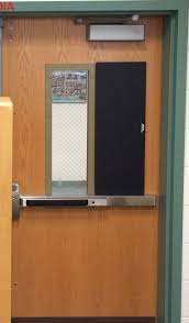 classroom door with window. Shelter Shutters Are Inconspicuous Classroom Door With Window S