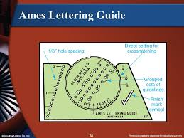Ames Lettering Guide © Goodheart Willcox Co Inc