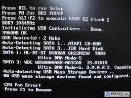 CPU Fan Error. CPU Fan Error! Press F1 to Resume ...