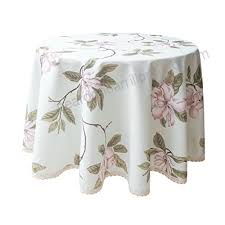 weiwo decorative camellia fl print lace water resistant tablecloth wrinkle free and stain resistant fabric tablecloths