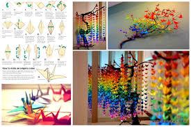diy room decor ideas step by step. guide on how to create a colorful rainbow diy crane curtain [video+detailed instructions] diy room decor ideas step by s