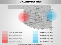 Creek And Cherokee Venn Diagram Usa Oklahoma State Powerpoint Maps Powerpoint Presentation