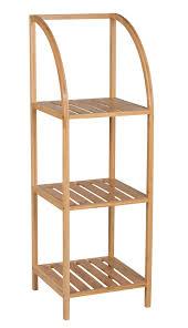 Leiterregal Bamboo Weiß Bambus Regal Holzregal Standregal