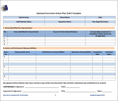 Free Corrective Action Plan Template - April.onthemarch.co