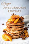 apple nut pancakes  vegan