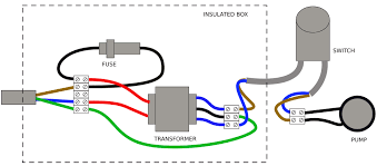 wiring connecting a pump to wall socket using a transformer Wiring Up A Transformer Wiring Up A Transformer #1 wiring up transformers